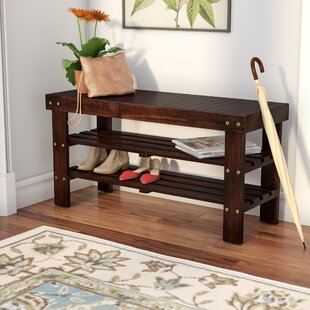 Review Theiss Wood Storage Bench by Andover Mills
