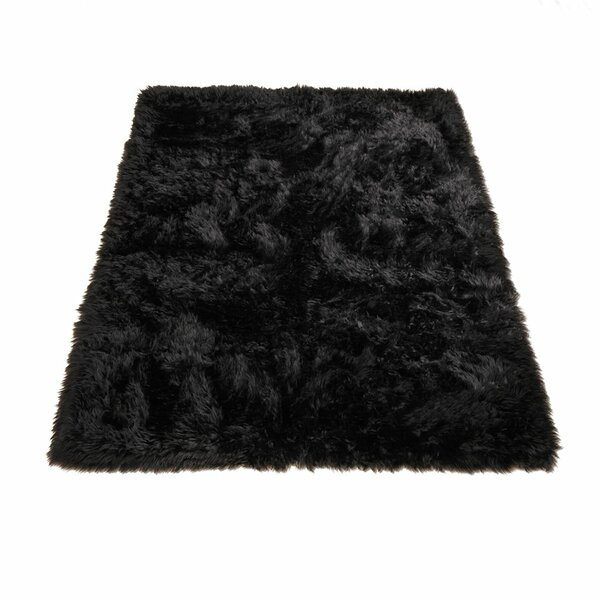 Animal Black Area Rug by Walk On Me