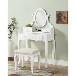 Courts Wood Makeup Vanity Set With Mirror