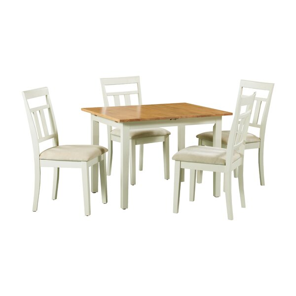 #2 Shipe 5 Piece Extendable Solid Wood Dining Set By August Grove Comparison