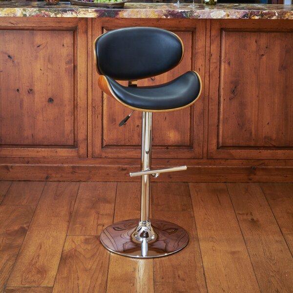 Hower Adjustable Height Swivel Bar Stool by Wrought Studio