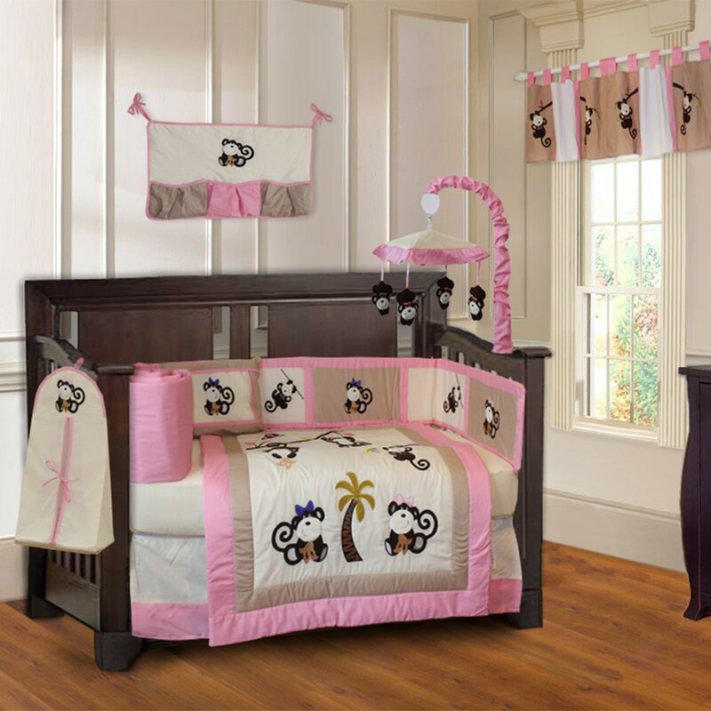 Monkey 10 Piece Crib Bedding Set