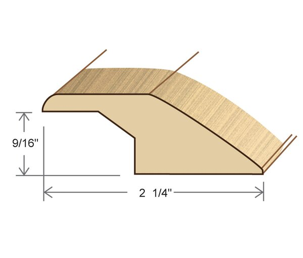 0.56 x 2.25 x78 Solid Red Oak Overlap Reducer by Moldings Online