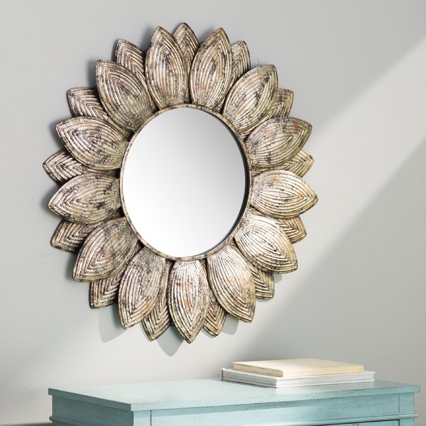 Seema Round Wall Mirror by Bungalow Rose