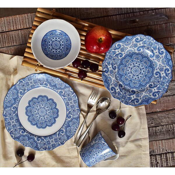 Lyria 16 Piece Dinnerware Set, Service for 4 by 22