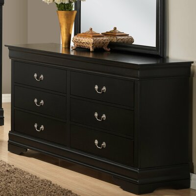 Isony 594 Louis Philippe 6 Drawers Double Dresser
