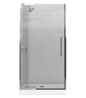 Pinstripe 38.75 x 72.25 Pivot Shower Door by Kohler