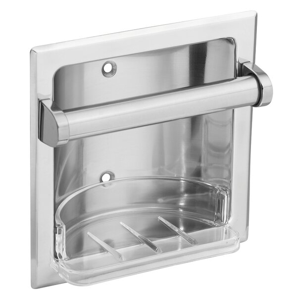 Recessed Fixtures Soap Holder in Triple Plated Polished Chrome by Donner Bath Furnishings