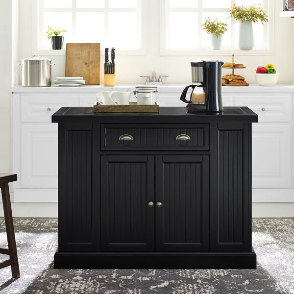 Seaside Kitchen Island with Granite Top by Crosley
