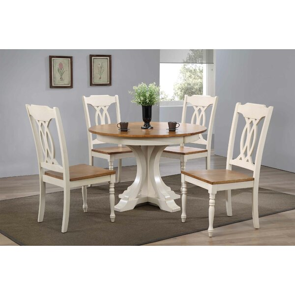 Alisha 5 Piece Solid Wood Dining Set by Alcott Hill Alcott Hill