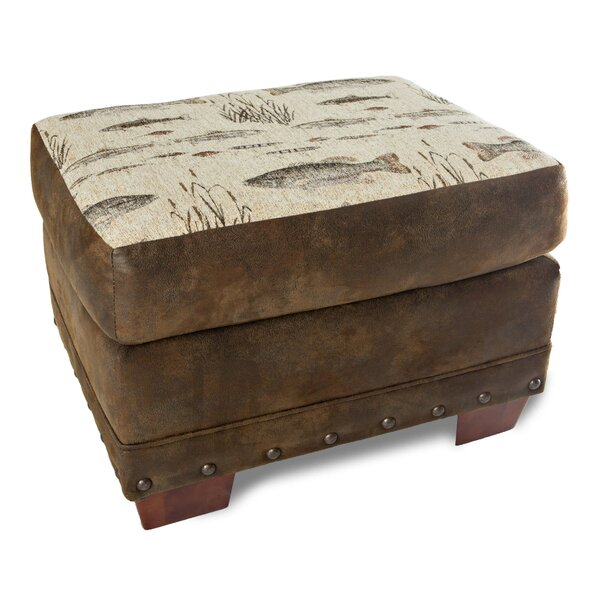 Apollonia Angler's Cove Ottoman by Loon Peak Loon Peak