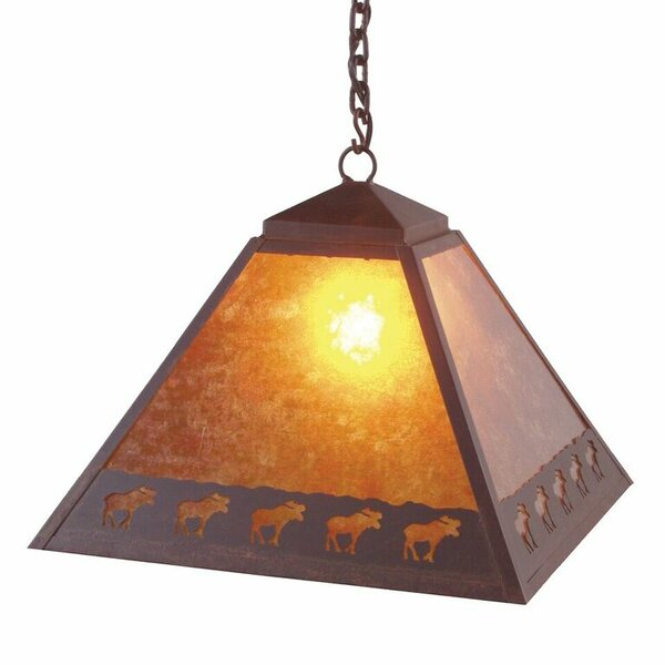 Band of Moose 1 - Light Lantern Geometric Chandelier by Steel Partners Steel Partners