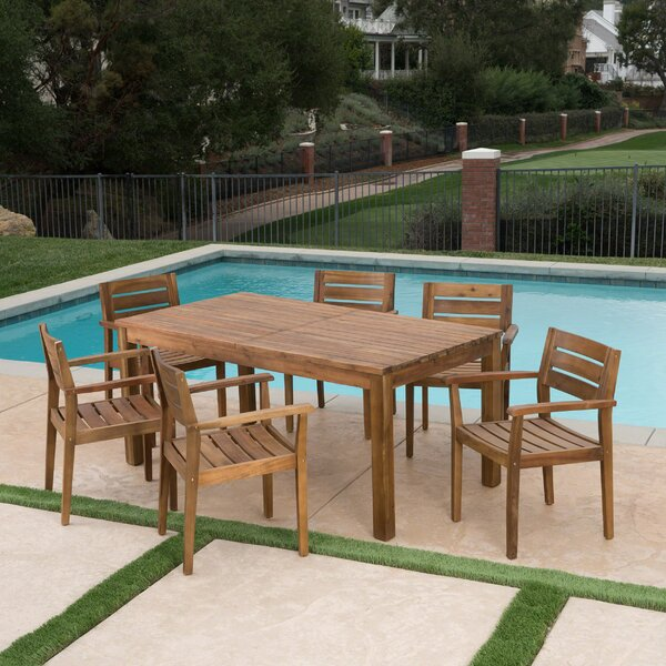 Mangrum 7 Piece Extendable Dining Set by Union Rustic