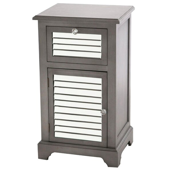Heinrich Mirrored 1 Drawer Accent Cabinet by House of Hampton House of Hampton
