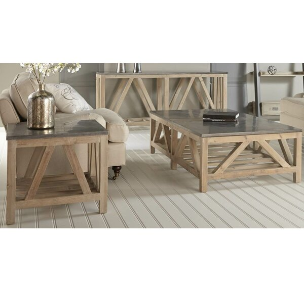Hafner 3 Piece Coffee Table Set by Rosecliff Heights