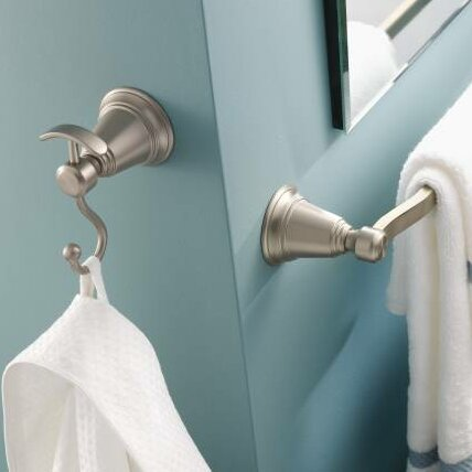 Contemporary Rothbury 18 Wall Mounted Towel Bar by Moen