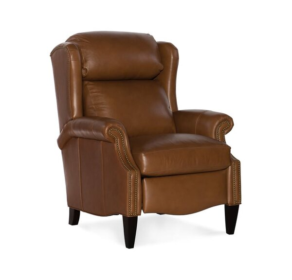 Miller Leather Manual Recliner by Bradington-Young