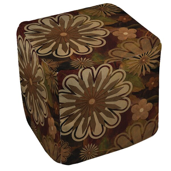 Floral Abstract 1 Pouf by Manual Woodworkers & Weavers
