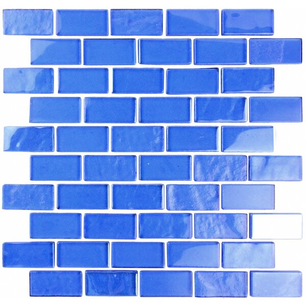 Landscape 1 x 2 Glass Mosaic Tile in Blue by Abolos