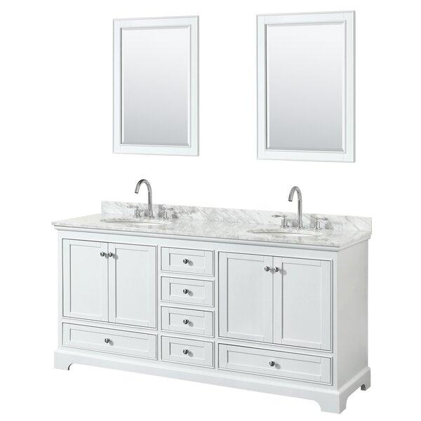 Deborah 72 Double Bathroom Vanity Set with Mirror