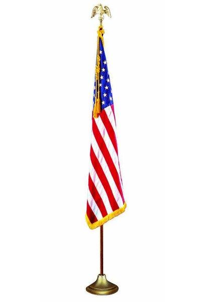 American Fringed Nylon 3 x 5 ft. Flag Set by U.S. Flag Store