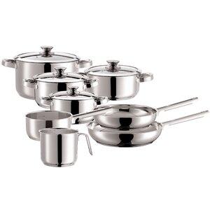 Varuna 8-Piece Non-Stick Stainless Steel Cookware Set