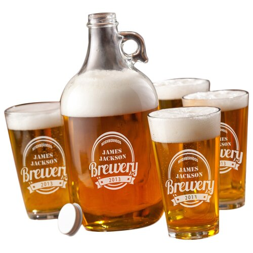 5 Piece Growler Set by JDS Personalized Gifts