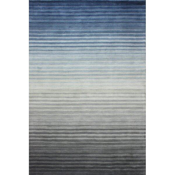 Napoleon Handmade Wool Gray/Blue Area Rug by Orren Ellis