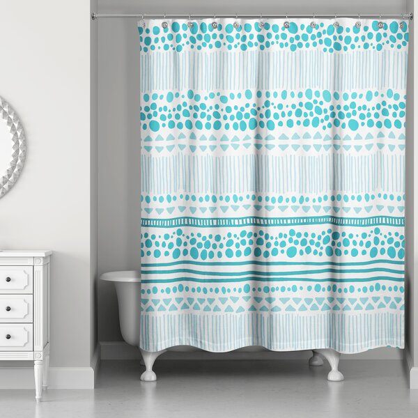 Presnell Tribal Print Shower Curtain by Latitude Run