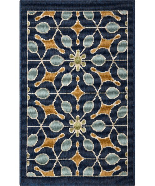 Stebbins Navy Indoor/Outdoor Area Rug by Charlton