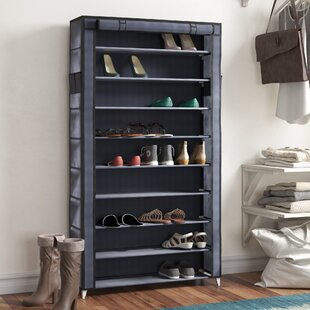 10 Tiers 45 Pair Shoe Rack Rebrilliant