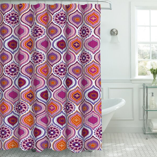 Zemamra Fabric Weave Textured Shower Curtain Set by Bungalow Rose