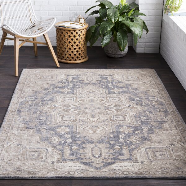 Richmondville Vintage Blue/Cream Area Rug by Bloomsbury Market