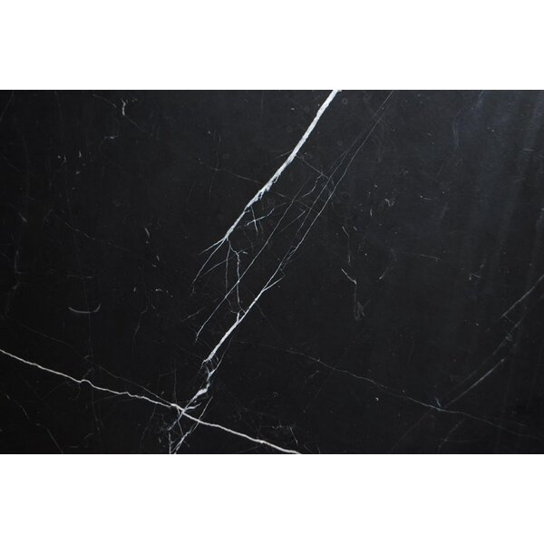 Black Marquina Polished 18x18 Marble Field Tile