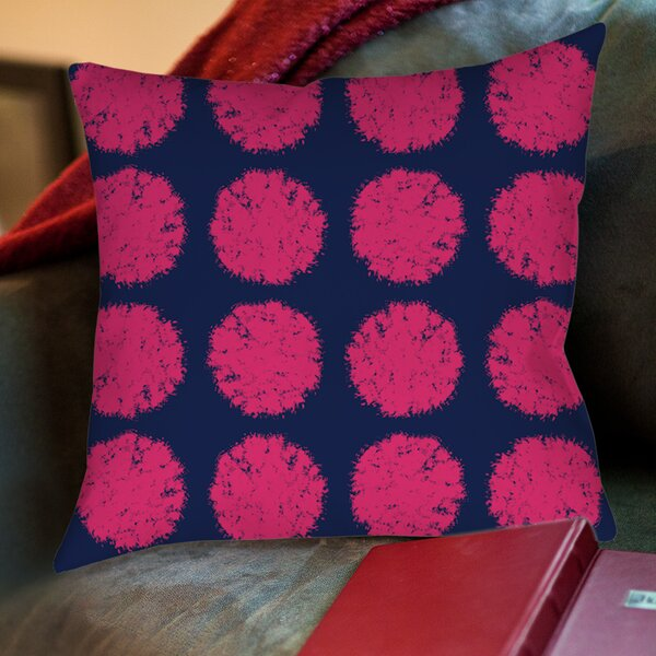 Pod Dots Printed Throw Pillow by Manual Woodworkers & Weavers
