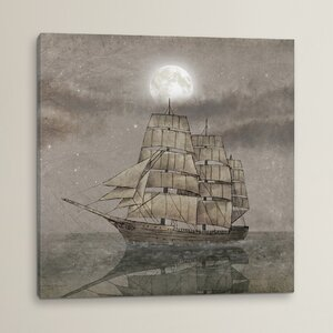 Night Journey' Painting on Wrapped Canvas by Breakwater Bay