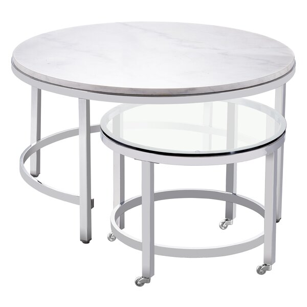 Carota RD Cocktail Nesting Table by Latitude Run