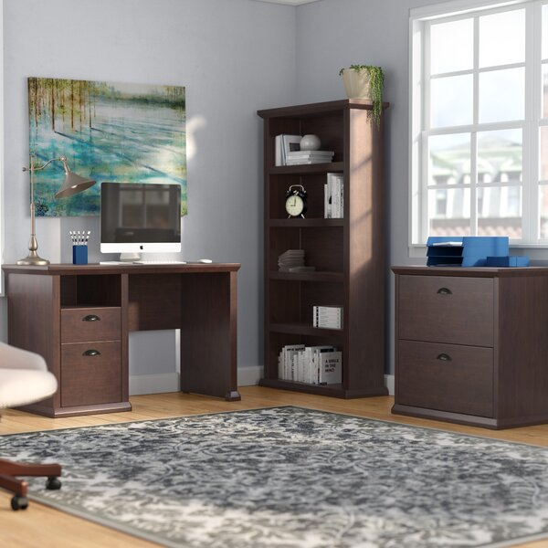Ferrell 3 Piece Desk Office Suite by Three Posts