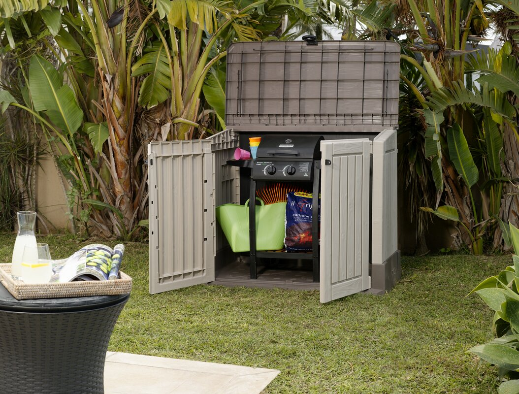 keter store it out midi 4 ft 3 in w x 2 ft 5 in d plastic horizontal garbage shed reviews. Black Bedroom Furniture Sets. Home Design Ideas