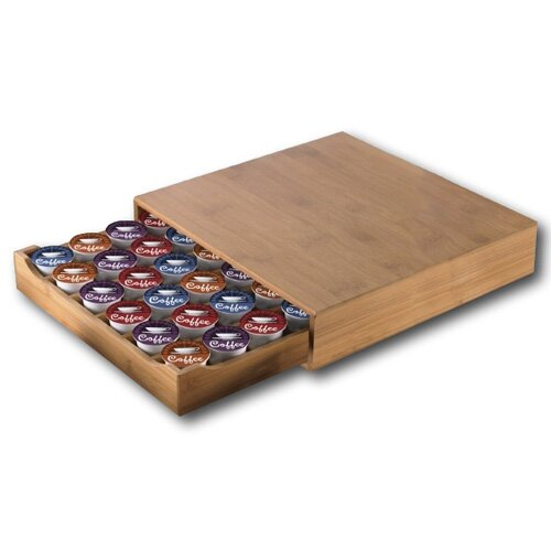 Modern Home Bamboo Keurig /Nespresso Vertuoline Coffee Pod Drawer by Vandue Corporation