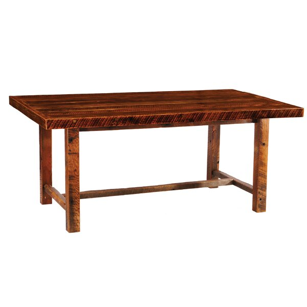Howardwick Solid Wood Dining Table by Millwood Pines Millwood Pines