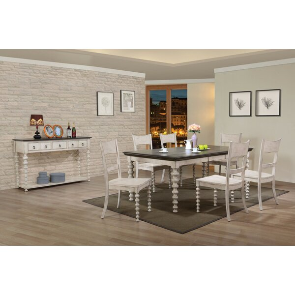 Gaetana Solid Wood Dining Table by Highland Dunes
