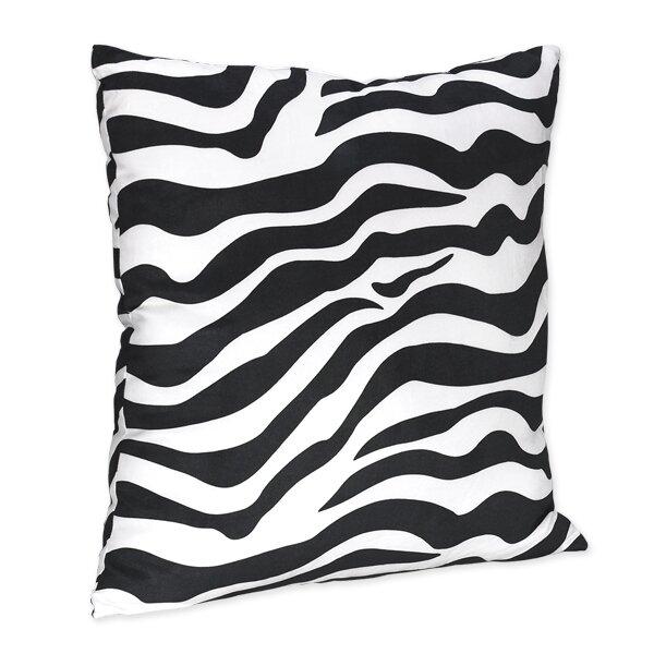 Zebra Microsuede Throw Pillow by Sweet Jojo Designs