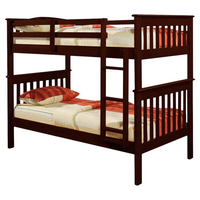 Harriet Bee Dubbo Twin Over Twin Bunk Bed Reviews Wayfair