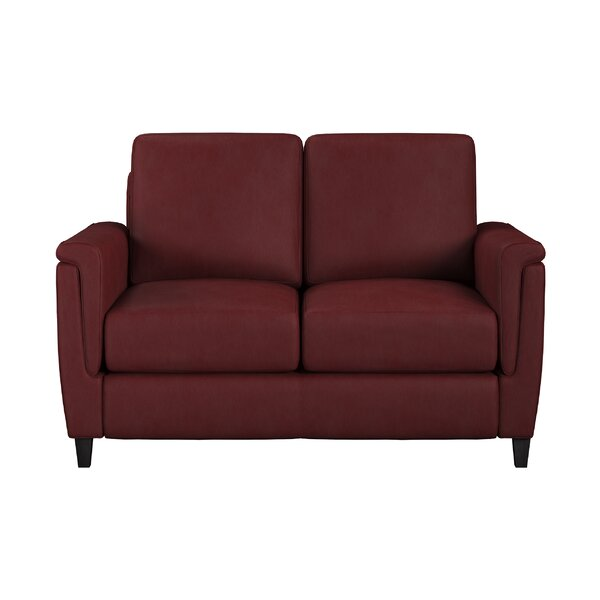 Altimo Leather Loveseat by Westland and Birch