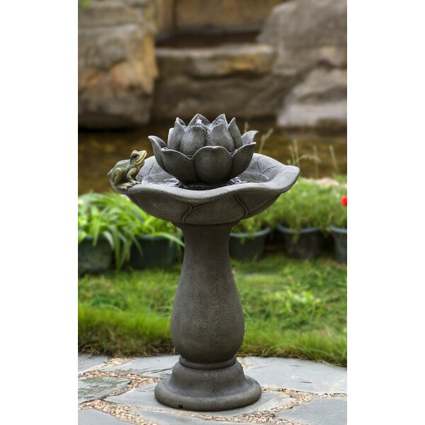Lotus Flower and Frog Tiers Water Fountain by Jeco Inc.