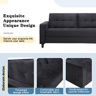 Sofa Set Morden Style Couch Furniture Upholstered Armchair, Loveseat And Three Seat For Home Or Office (1+3 Seat) by Everly Quinn