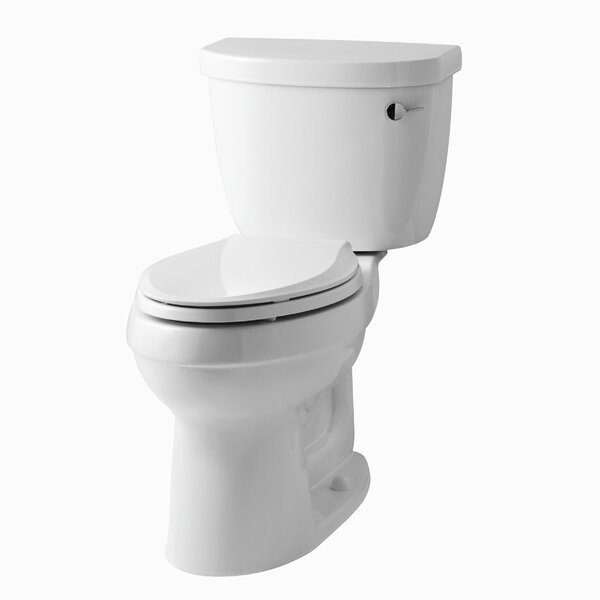 Cinamarron Two-Piece Elongated 1.6 GPF Toilet with Right-Hand Trip Lever by Kohler