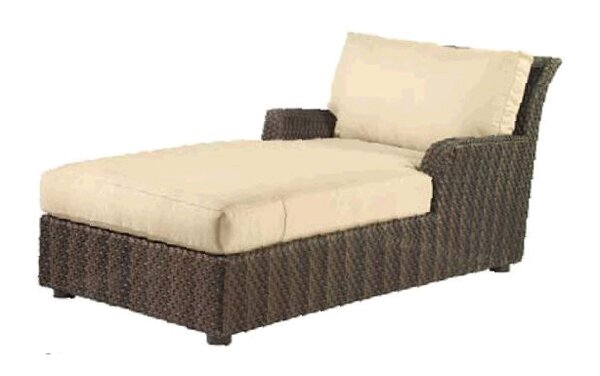 Aruba Chaise Lounge with Cushion by Woodard