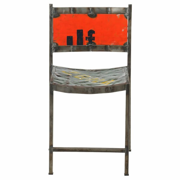 Travis Recycled Oil Drum Dining Chair by Williston Forge